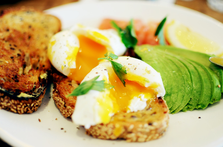 poached eggs avocado mixed business