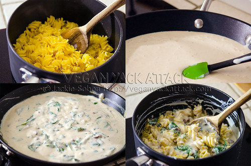 Making Creamy Garlic Sauce