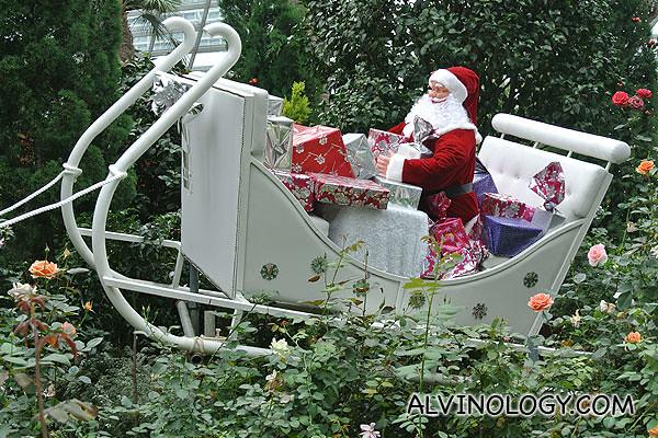 Close-up on Santa