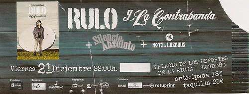 El Rulo Silencio Absoluto Motel Lazarus Concierto Palacio de los deportes Logroño 21-12-2012