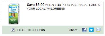$6.00/1 Nasal Ease At Your Local Walgreens Coupon