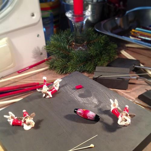Christmas in my lampwork - studio