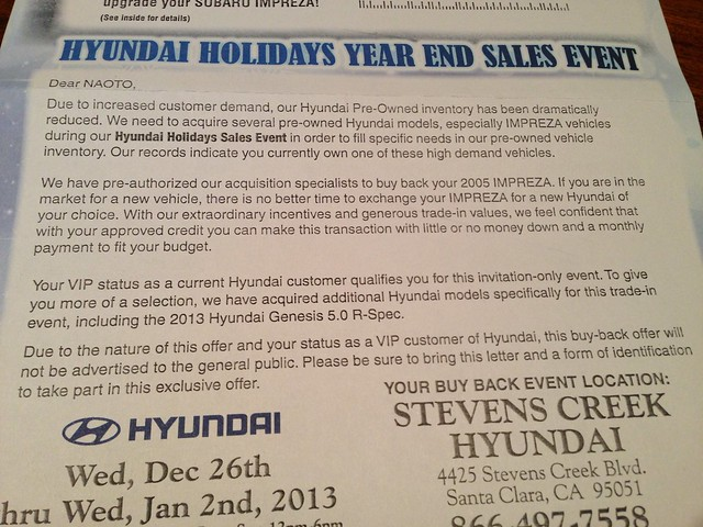 Hyundai Holidays Year End Sales Event