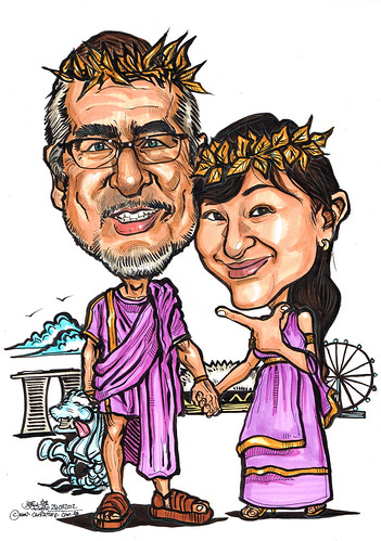 Roman Emperor and Empress caricatures