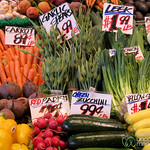 Summer Vegetables at Pike Place Market - Seattle, Washington