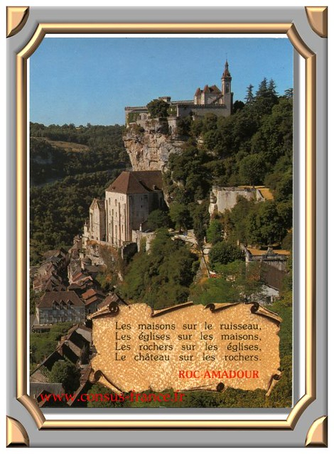 ROC AMADOUR (Lot) Vue panoramique prise de la route du Château -70-150