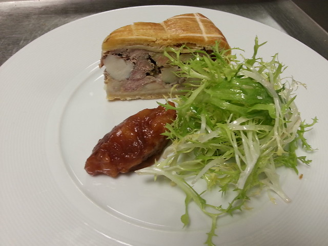 PATE EN CROUTE, CURLY LEAVES, QUINCE CHUTNEY