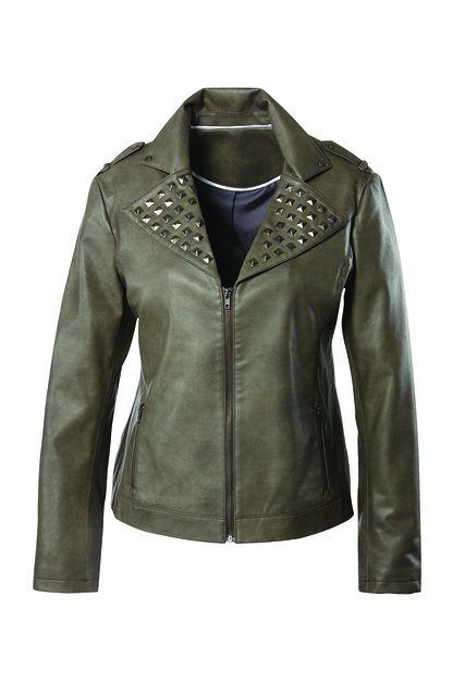 Studded biker jacket £85 Curvissa.co.uk 58369472