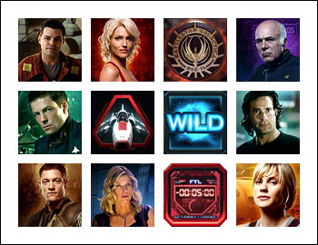 free Battlestar Galactica slot game symbols
