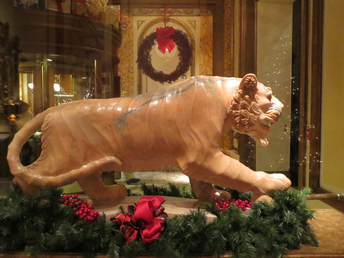 Panther with Christmas Decor