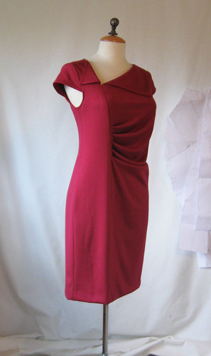 Lekala dress on form side