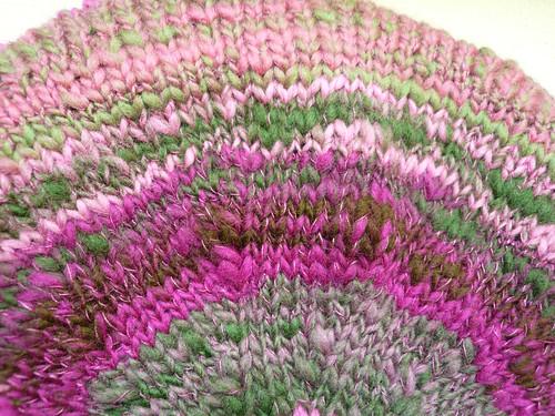 Pink beret top close