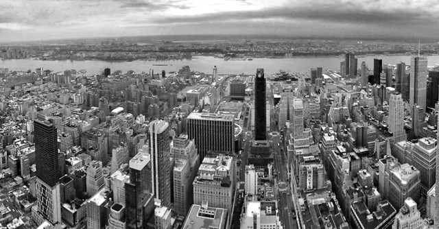 Looking west from the top of the Empire State Building