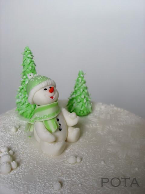 Gâteau Bon homme de Neige