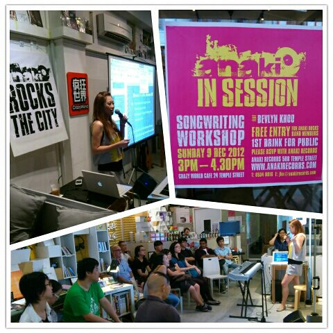 Anaki Songwriting Workshop 09 Dec 12