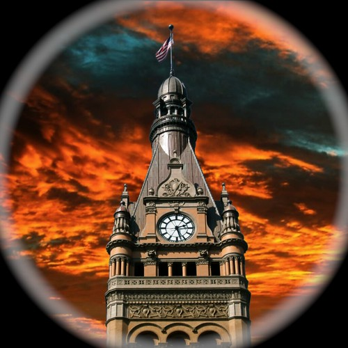 building tower clock wisconsin architecture town cityhall style historic juneau milwaukee register wi renaissance revival nrhp onasill