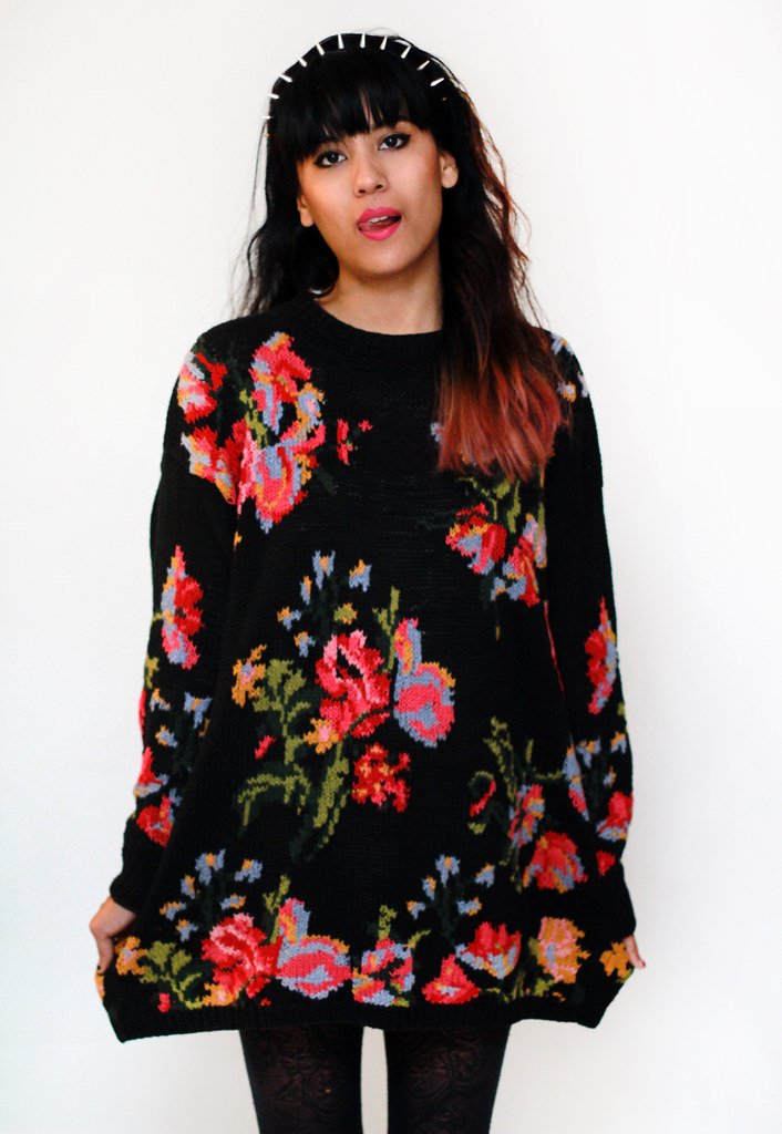 vintage floral knit sweater by Tarte Vintage at shoptarte.com