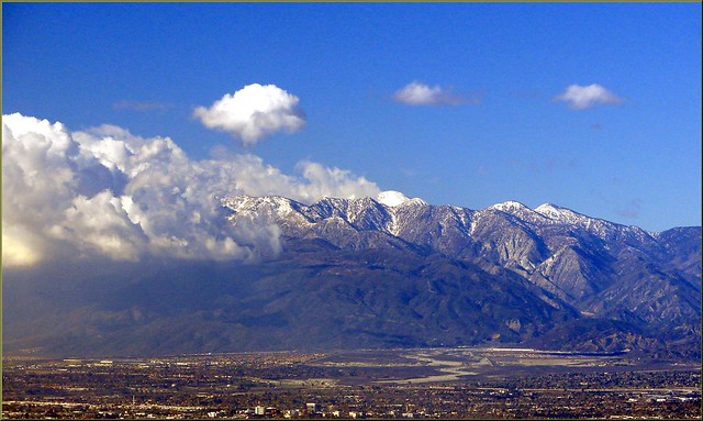 Mt. Baldy from Redlands, CA 12-27-12c