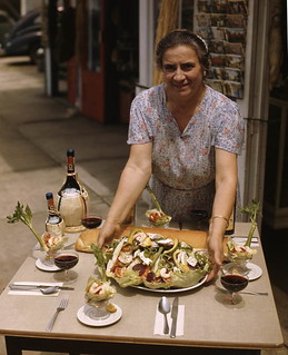 "Maria Pappas serving the ""perfect Greek luncheon"": Tarpon Springs, Florida"