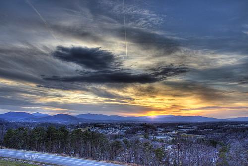 city winter sunset sky sun mountain mountains mill clouds virginia jet saturday trail roanoke valley terry salem hdr wintery vinton aldhizer terryaldhizercom