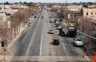 Lancaster Blvd before the project (courtesy of city of Lancaster)