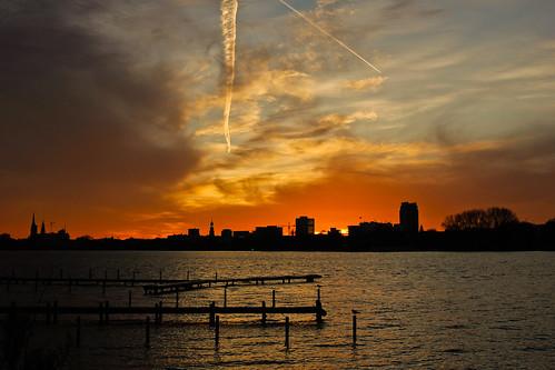 Sonnenuntergang auf der Alster #1613