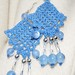 Crocheted earrings in blue
