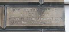 Photo of Alexander Campbell Mackenzie stone plaque