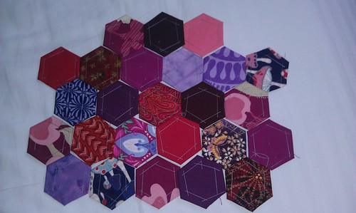 Purple red hexies