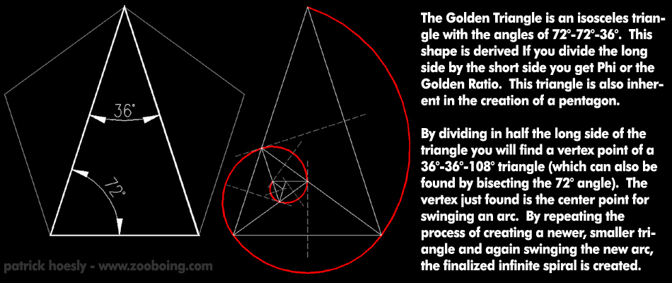 How To Draw A Golden Triangle Spiral Flickr Photo Sharing