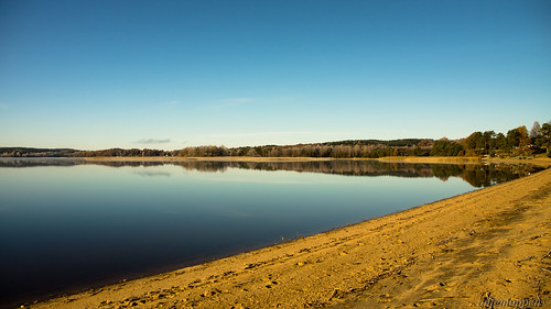 lake beach water sand sweden