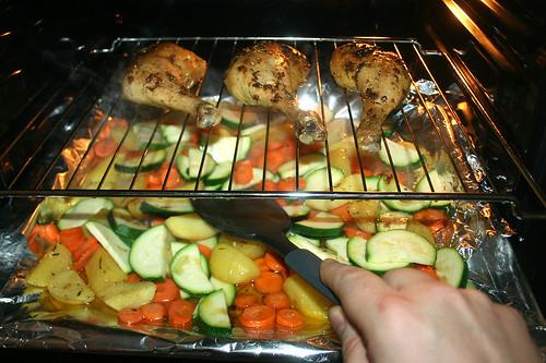 32 - Gemüse vermengen / Mix vegetables
