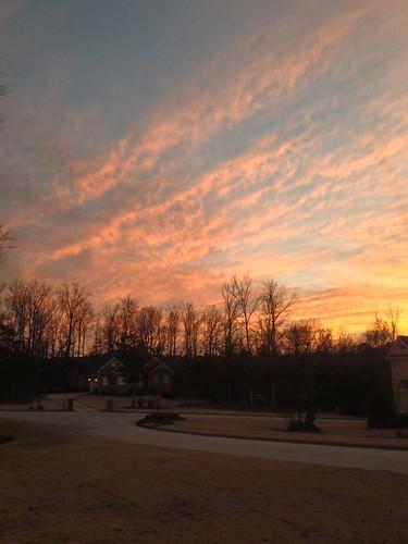 sunset sky neighborhood