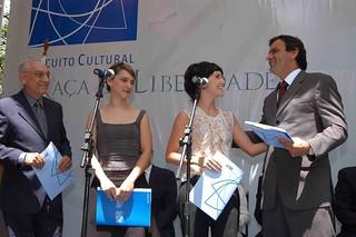Aécio Neves e Debora Falabella - Início da Implantação do projeto Circuito Cultural Praça da Liberdade - 17/03/05