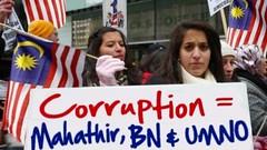 Mahathir, Malaysia BN, UMNO, Corruption