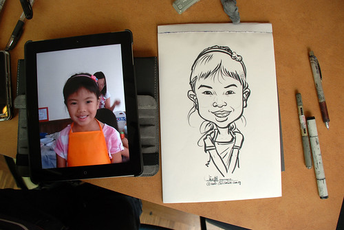 caricature sketching for a birthday party 07072012 - 3