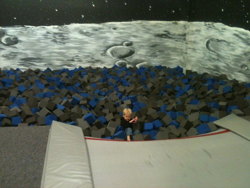 In the moon pit