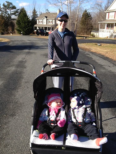 Trying the new jogging stroller!