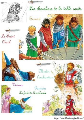Le bonheur en famille janvier 2013 - Blason chevalier table ronde ...
