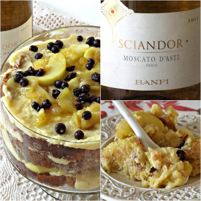 English Trifle al Caffè e Amaretto con Mele caramellate al Burro Salato