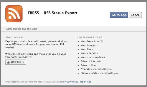 FBRSS - RSS Status Export