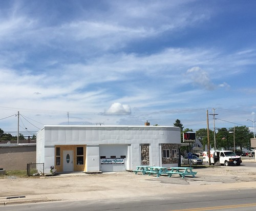 Former service station. Rogers City Michigan.  August 15 2016.