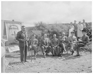 Hepi Te Heu Heu at the unveiling of a commemorative plaque at Te Pōrere, 18 February 1961