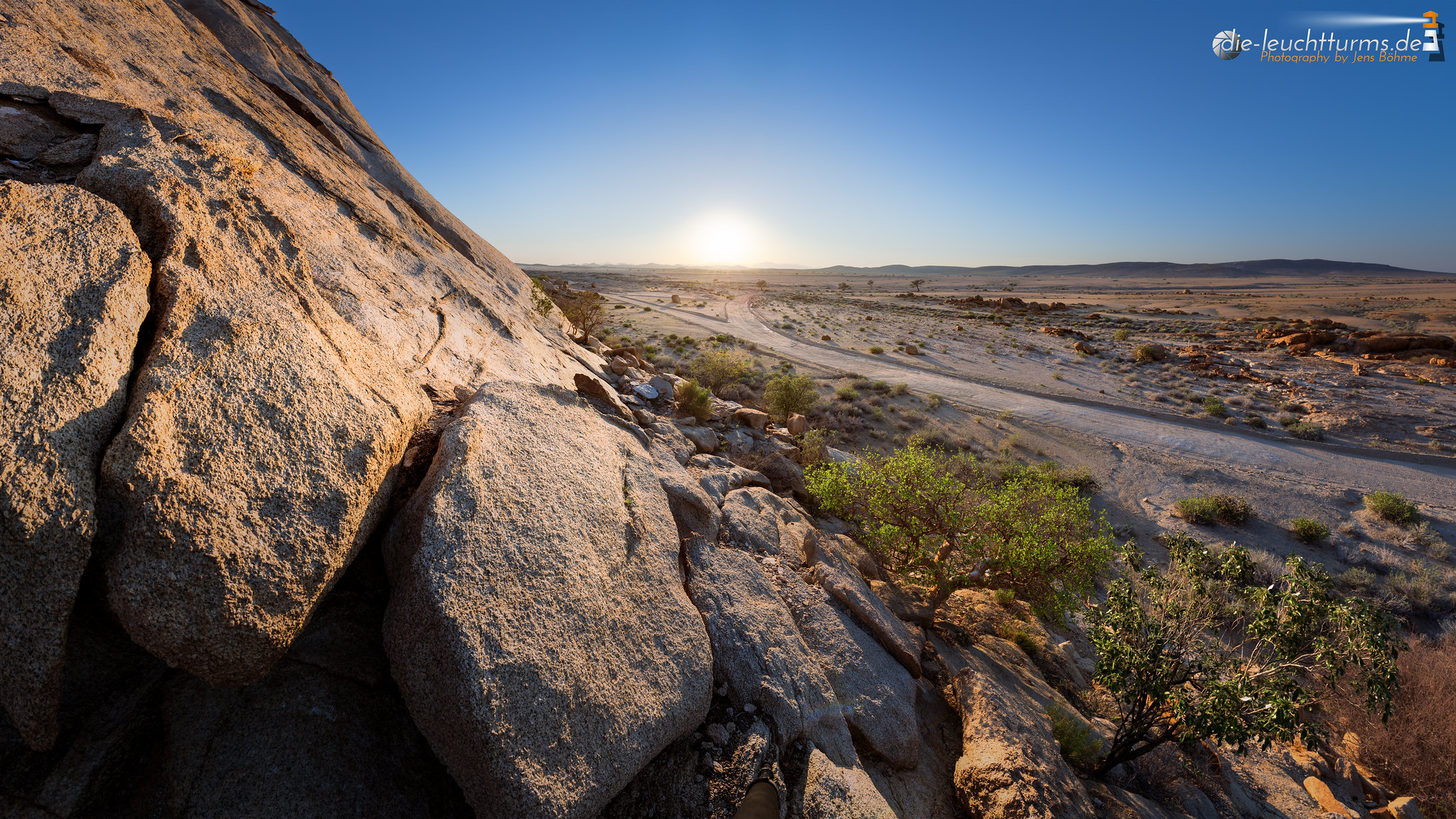 Rising sun while climbing