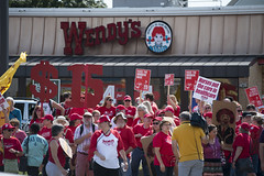 Protest calling for raising the Minneapolis minimum wage to $15/hour