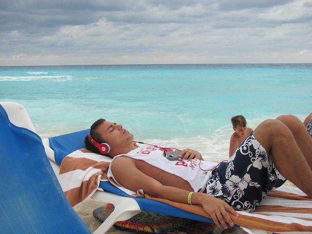 Cancun Beach Relaxation