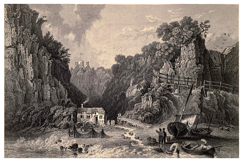 009-Otra vista del Shanklin Chine desde el mar- Barber's picturesque guide to the Isle of Wight (1850)