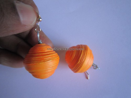 Handmade Jewelry - Paper Quilling Globe Earrings (3) by fah2305