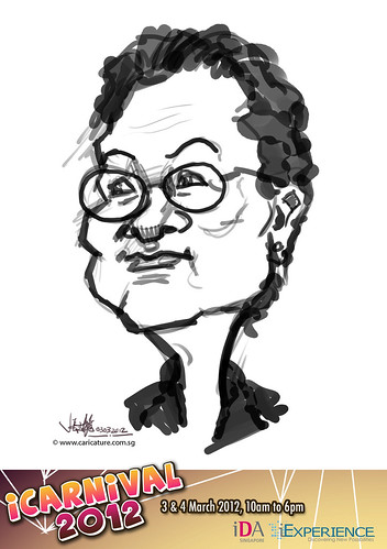 digital live caricature for iCarnival 2012  (IDA) - Day 1 - 57