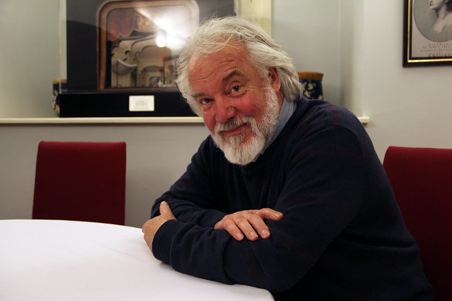 John Tomlinson during the Twitter Q&A © Royal Opera House/Ruairi Watson 2012